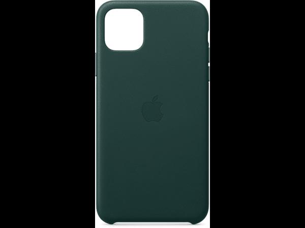 Apple iPhone 11 Pro Max Leder Case, Waldgrün
