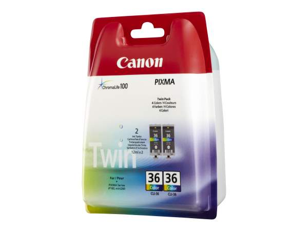 Canon CLI-36 Twin Pack - 2er-Pack-Farbe