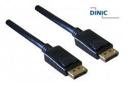 DINIC DisplayPort 1.3 Kabel, 5K3K, 2m, Polybag VESA genormt Version 1.3