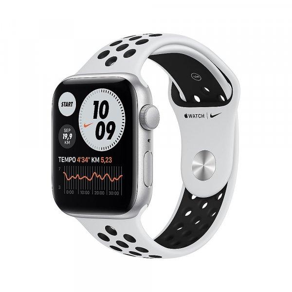 Apple Watch Nike Sportarmband, 42/44 mm, Pure Platinum/Schwarz