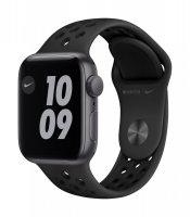 Apple Watch Nike SE, GPS, 40 mm, Aluminium, Space Grau, Mit Nike Sportarmband, Antrazit/Schwarz, Reg