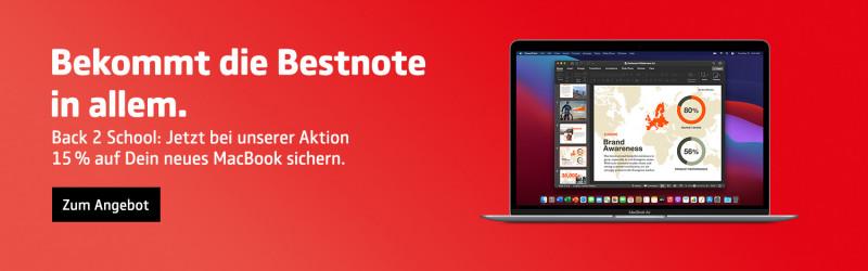 15% auf MacBook Back 2 School Angebot | COMSPOT