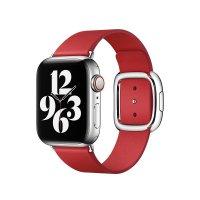 Apple Modernes Lederarmband Scharlachrot