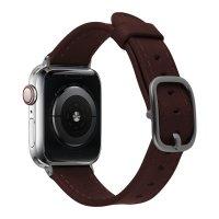 Devia Lederarmband für Apple Watch 42/44 mm Dunkelbraun