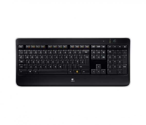 Logitech Wireless Illuminated Keyboard K800, Tastatur, Schwarz