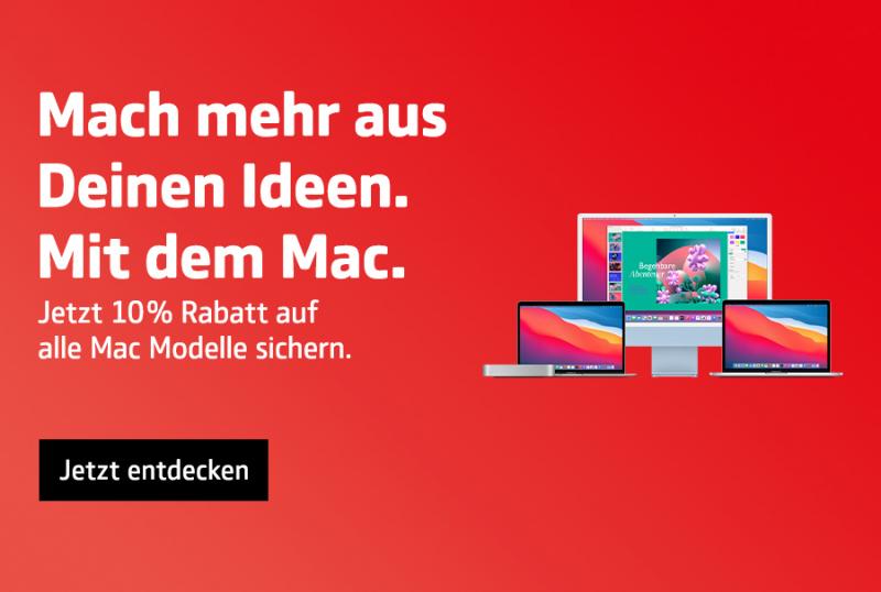 10% auf Deinen Mac.